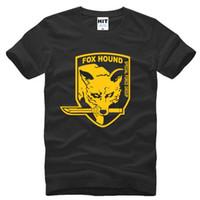 engrenagem metálica curta venda por atacado-Metal Gear Solid MGS Fox Hound Videogame Camisas Dos Homens de Verão de Manga Curta de Algodão dos homens T Shirt Tee Camisetas Hombre Plus Size