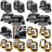 jersey de invierno bruins al por mayor-2019 Clásico de invierno Chicago Blackhawks Boston Bruins Toews DeBrincat Patrick Kane Seabrook Crawford Pastrnak Bergeron Marchand camiseta de hockey