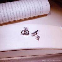 ingrosso orecchini vuoti-Autentico logo in argento sterling 925 con logo parole vuote nel logo del marchio orecchini per le donne gioielli compatibili PS6794