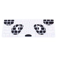Wholesale Dustproof Macbook - 1 Pcs US Panda Eyes Pattern Silicone Keyboard Protector Skin Protective Film Cover for Macbook 13 15 17 inch