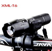 zoom de bicicleta venda por atacado-Aviso de bicicleta de montanha holofotes da bicicleta da frente da lâmpada LED Mini zoom táticas T6 forte luz lanterna frete grátis