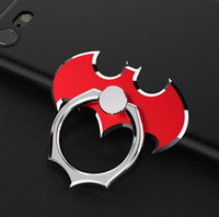 Wholesale Bat Rings - The new all-metal bat mobile phone ring bracket 360 degrees rotates the phone flat against the ring