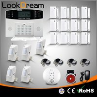 Wholesale Wireless Gsm Home Alarm Systems - Update Commercial Wireless House Security Anti Burglar Home Apartment GSM Alarm Systems Voice SMS Autodialer By DHL Free