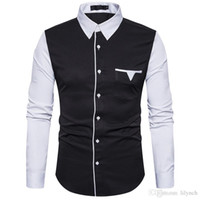 Wholesale male models clothes online - Brand clothing autumn new men s fashion sleeves then fight unique pocket design male models long sleeved shirt