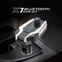 Wholesale best mp3 player resale online - X7 Wireless Bluetooth Car Kit MP3 Player FM Transmitter SD USB Charger for Cell Phone Best Quality