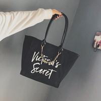 kore çantası tote toptan satış-Yeni dalga bayanlar el omuz omuz basit vahşi basit mektubu tote çanta Kore versiyonu