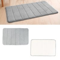 Wholesale shaggy bathroom mats - Bath Mat Bathroom Carpet Water Absorption Rug Shaggy Memory Foam Bathroom Mat Set kitchen Door Floor tapis salle de bain (40*60cm)