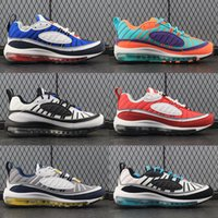 Wholesale colourful men - 2018 Top Quality 98 QS Colourful Running Shoes Mens Trainers OG 98s Gundam Cushion Brand Designer Sneakers Jogging Shoe