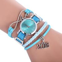nouvelle montre à corde achat en gros de-2018 nouvelles femmes aiment bracelet en cuir corde armure montres mode dames loisirs casual robe montres à quartz
