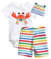patrón de camisa infantil al por mayor-2018 Nuevo estilo Baby Boy Ropa Conjunto Trajes Algodón Animales Patrón Short T -Shirt + Pants 2pcs Infant Bebe Baby Girl Ropa Set