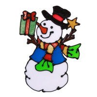etiqueta de la pared de vidrio puerta al por mayor-Pegatinas de vidrio de silicona de navidad ventana de la puerta grande de la pared pegados adornos de navidad decoración año nuevo de navidad decoraciones para el hogar