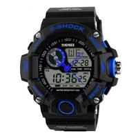 Wholesale multifunctional digital watch - SKMEI 1029 Men Sports Watches Waterproof Fashion Casual Quartz Watch Digital Man Analog Military Multifunctional Wristwatches