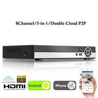 grabadora ip 8ch al por mayor-Nuevo 8CH Super XVR All HD 1080P 5 en 1 DVR Vigilancia de CCTV Grabadora de video Salida HDMI para AHD / Analógico / Onvif Cámara IP / TVI / CVI