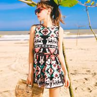 Wholesale lovely bikini - Lovely Bikinis Women Swimsuit Summer Beachwear Adjustable Shoulder Straps Wide Shoulders U Back Swimwear Romantic Cuffs