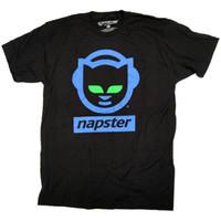 camisas dos homens de algodão on-line venda por atacado-Napster Camiseta - 100% Oficial Clássico Retro Online Logotipo Da Música DOS EUA Importação 2018 Nova Marca Dos Homens T Camisa de Algodão SSummer T-shirt Tops
