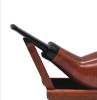 ручной держатель для сигарет оптовых-Handmade свободный красный держатель сигареты сандалового дерева с изогнутым держателем сигареты ручки