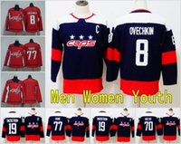 serie del estadio del jersey del hockey al por mayor-2018 Stadium Series Washington Capitals Mujeres Mujeres Hombres 8 Alex Ovechkin Jersey 70 Hockey 77 TJ Oshie Ovechkin 19 Nicklas Backstrom Kids