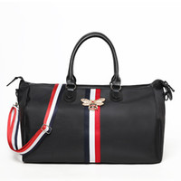 Wholesale butterfly travel bag for sale - Group buy Pure Color Luggage Sports Bag High Capacity Travel Handbag Nylon Minimalism Black With Butterfly Buckle Water Proof Gym Bags rt jj