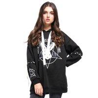 kız moda hoody toptan satış-Moda Mcckle Harajuku Iki Stil Kazak Kadın Desen Kwaii Bayanlar Hoody Gömlek Uzun Gevşek Eşofman Sonbahar Kız Hoodies Asya Boyutu