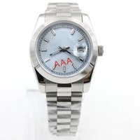 Wholesale mens crystal wrist watches resale online - 2018 Luxury Mens Watch Day Date Sapphire Crystal President Stainless Steel Men Watches Automatic Mechanical Male Wrist Watch Relo Reloj