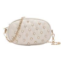 beige fanny packs Canada - 2018 New style Korean Pearl Fashion Hot Selling Ladies Fanny Packs Korean Chain Single Shoulder Slant Cross Chest Package