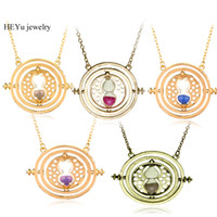 Wholesale hermione granger time turner - Wholesale Hermione Granger Rotating Horcrux Time Turner Necklace Time Converter Hourglass pendant Necklace For Women&Men