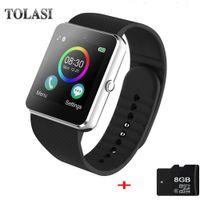 apple watch os оптовых-2018 горячие женщины GT08 Smart Watch phone поддержка TF SIM-карты MP3 0.3 MP камера Bluetooth Sync Notifier часы для apple android OS