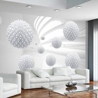raumkulissen großhandel-Moderne Einfache Fototapete 3D Sphärische Geometrie Raum Wandbild Wohnzimmer Büro Hintergrund Wandverkleidungen Papel De Parede