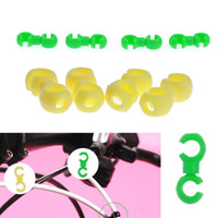 Wholesale shape hose online - Mountain Bike brake Cable Guides hose clip S Shape C Clips plastic For Bicycle Brake Cable Guiding Tool