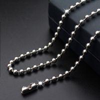 kaliteli ıstakoz toka toptan satış-Yüksek Kalite 316L Paslanmaz Çelik Boncuk Top Zincirler Bağlantı Kolye Takı Aksesuarları Istakoz Klipsler Zincir Takı 18 inç-35 inç