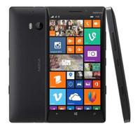 cuádruple stock de teléfono al por mayor-Caliente Original Desbloqueado Nokia Lumia 930 L930 Teléfonos móviles 20MP Cámara LTE NFC Quad-core 32GB ROM 2GB RAM en stock Smartphones