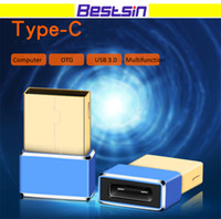 Wholesale multi data - Bestsin Multi-function Mini OTG Type C Conver to USB3.0 Support Data Transfer and Charging Free DHL Shipping