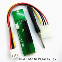 ltc miner großhandel-NGFF M2 zu PCI-e 4x 1x Slot Riser Karte M Schlüssel M.2 SSD Port zu PCI Express Adapter Konverter für Bergbau Bitcoin Miner für BTC LTC 50pcs / lot