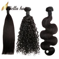 Wholesale Natural Hair Braids - Brazilian Hair Bundles Natural Color Straight Body Wave Deep Curly 100 Human Hair Extensions Julienchina Braid-Donor Bella Hair 1 2 3 4pcs