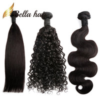 Wholesale deep wave braiding hair 18 inches for sale - Group buy Brazilian Hair Bundles Natural Color Straight Body Wave Deep Curly Human Hair Extensions Julienchina Braid Donor Bella Hair