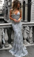 Wholesale girls robe 12 - African Mermaid African Silver Gold Prom Dresses 2018 Black Girls Lace Beads Lace Prom Gowns Open Back Evening Dresses robe de soiree