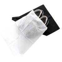 Wholesale portable folding shoes resale online - Portable Shoe Storage Bags Washable Non Woven Fabric Drawstring Bag Dust Proof Eco Friendly Organizer Factory Direct Sale jm BB