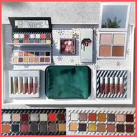 Wholesale Christmas Cosmetics - 2017 Newest Christmas Collection Set Naughty & Nice Eyeshadow The Wet Set Velvet Liquid Lipsticks & Lip Liner Cosmetics