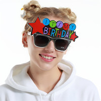Wholesale birthday party sunglasses - Funny Glasses Red Star Special Design For Birthday Theme Decoration Party Cosplay Props Novelty Fun Sunglasses Gifts Free Shipping 9sf Z