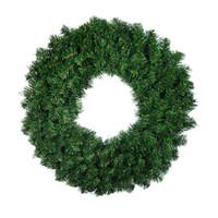 Wholesale Christmas Wreath Supplies - Enfeites De Natal Adornos Navidad Craft Supplies Hanging Ornaments 30-80cm Green PVC Ordinary Christmas Wreath Tree Decoration flower