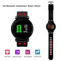 ingrosso vigilanza del tocco della donna-2018 Nuovo Smart Watch Uomo Donna K2 Bluetooth impermeabile colorato OLED Touch Screen Smartwatch Blood Pressure Monitor pressione sanguigna