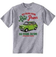 vintages t-shirt hip hop großhandel-VINTAGE ITALIENISCHE AUTO FIAT NEUE BAUMWOLLE T-SHIRT Hip Hop Kleidung Baumwolle Kurzarm T-shirt top tee Mode Druck t-shirt Plus Größe