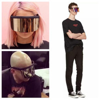 Wholesale mask top - New Vintage Extra Oversize Outdoor Shield Visor Sunglasses Flat Top Mask Mirrored Shades Men Windproof Eyewear UV400 GGA133 10PCS
