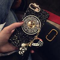 caja de diamante 3d al por mayor-2017 Nueva Chica Mujer Dama Estilo 3D Diamante Bling Glitter Borla Estrellas Caja Del Teléfono de La Cadena Para iPhone X 8 Más 6 6 S 6 plus 6 S 7 Más