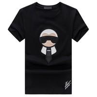 erkekler için markalı gündüz gömlek tasarımları toptan satış-Marka Tasarım Yaz Sokak Giyim Avrupa Moda Erkekler Yüksek Kaliteli Pamuk Tshirt Casual Kısa Kollu Tee T-shirt