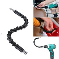 Wholesale connect tools - 295mm Flexible Shaft Bits Extention Screwdriver Bit Power Tools Drill Holder Connect Link Cordless Drills Woodworking Tools