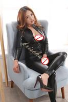 brinquedos sexuais gatos venda por atacado-Restrições Bondage Bodysuit Erotic Sexy Straitjacket Catsuit Zíper Frontal Macacão Mulheres Terno Do Gato Harness Corpo Brinquedo Do Sexo