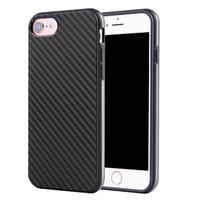 karbon fiber iphone toptan satış-Premium lüks karbon fiber koruma telefon kılıfı iphone 5 S 6 6 artı 7 iphone 7 artı