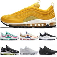 Wholesale Mustard Yellow Running Shoes For Men Women s Trainer South Beach Grape Gold Silver Bullet Triple White Black Sport Sneaker Size