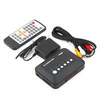hdmi rm media player toptan satış-Freeshipping 1 Adet 1080 P HD SD / MMC TV Videoları SD MMC RMVB MP3 Çok TV USB HDMI Medya Oynatıcı Kutu Toptan